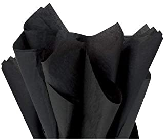 Black Tissue Paper for Gift Bags Wrapping, Packing, Birthday Party, Festival, DIY Art Crafts, Pom Pom, Christmas and Holidays. Bulk 100 Sheets - 15 x 20 Inches