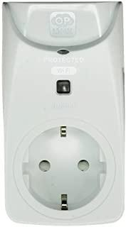 Home8 - Enchufe inteligente - Inalámbrico - Antena interna - Protección contra sobretensiones - Botón encendido/apagado manual - Instalación automática mediante escaneo de código QR