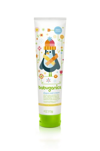 Babyganics Diaper Rash Cream, 4oz Tube (Pack of 2)