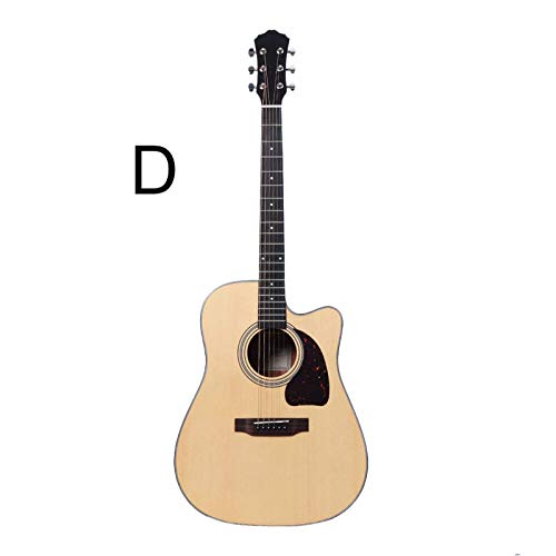 Cutaway Guitar41 pulgadas guitarra folk principiante novato guitarra masculina autodidacta guitarra sólida (tamaño: 41 pulgadas; color: D)