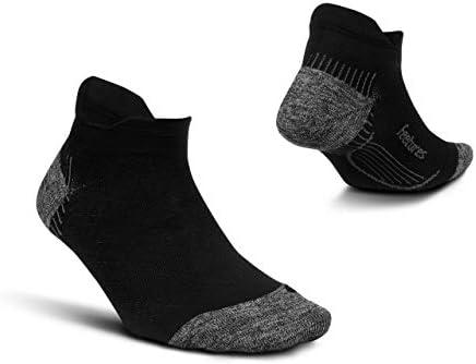 Feetures Plantar Fasciitis Cushion No Show Tab Sock Medium Black product image