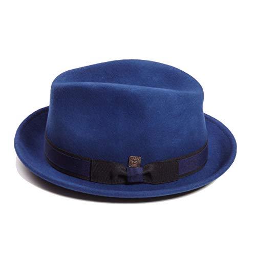 DASMARCA-Collection Hiver-déformable et Compressible-Chapeau de Feutre Fedora Cobalt-Robin-L