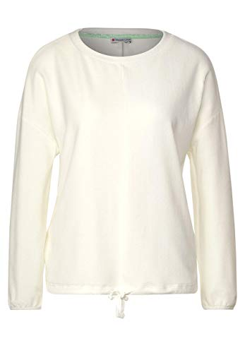 Street One Damen Flauschiges Babycord-Shirt Off White 36