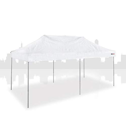 Main-Zelt Tienda de campaña de 3 x 6 m (PVC) sin Paredes Laterales, Cabina de Mercado, Carpa de Ventas, Carpa Plegable, Estructura Variante de Negocios