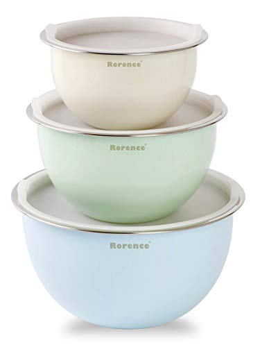 Rorence Mixing Bowls with Lids: Stainless Steel – Set of 3
