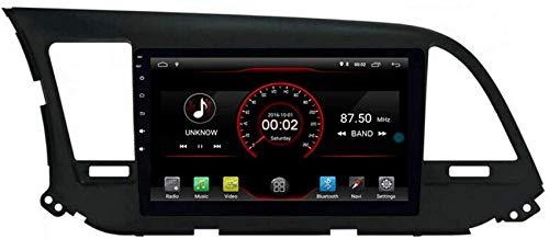FGVBC Reproductor de DVD para automóvil Unidad Principal estéreo GPS Navi Radio Multimedia WiFi Compatible con Hyundai Elantra Avante 2016 2017 2018 Soporte Control del Volante
