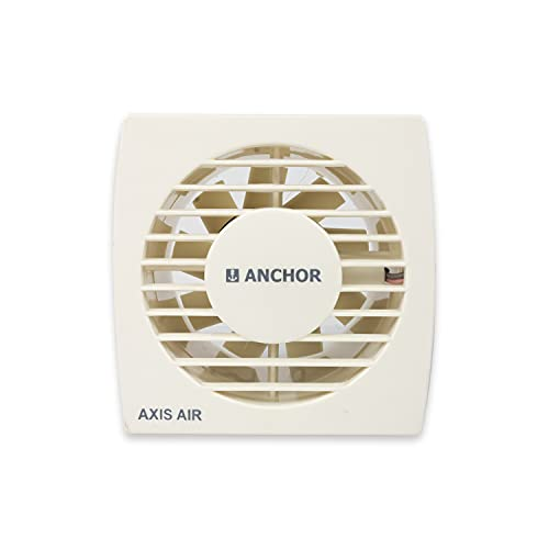 Anchor by Panasonic Plastic Axis Air Ventilation Fan Exhaust Fan for Home, Office, Kitchen and Bathroom (150mm, Ivory, Pack of 1)
