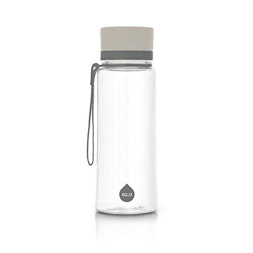 Equa Trinkflasche aus Tritan, BPA frei, stabil, leicht und dicht - grau 0,6L