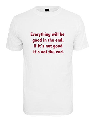 Mister Tee Herren Everything Will Be Good Tee T-Shirt, White, M