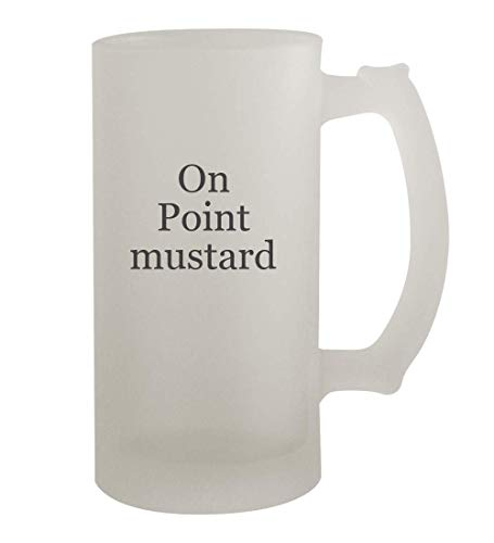On Point mustard - 16oz Frosted Beer Mug Stein, Frosted