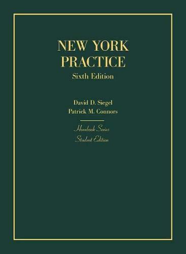 New York Practice, Student Edition (Hornbooks)