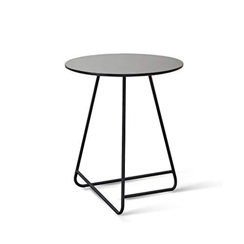 ZIJUAN Table Basse Nordique en Fer Forgé Salon Salle À Manger Canapé-lit Rangement Rangement Table De Coin (Couleur : Black-b)