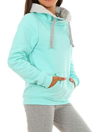 Dykmod Mädchen Pullover Bluse Sweatshirt hk389 122 Minze