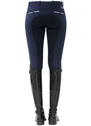 SPOOKS Reithose für Damen Mädchen Kinder, Voll-Besatz Reithosen Leggings Turnierreithose - bequem & stylisch Ricarda Full - Navy XS