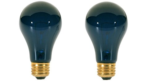 75 Watt A19 Incandescent Light Bulb, Black Light (2 Pack)