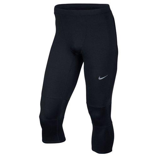 NIKE 3/4 Tights Dri Fit Essential Mallas de Running, Hombre, Negro/Rosa, XL
