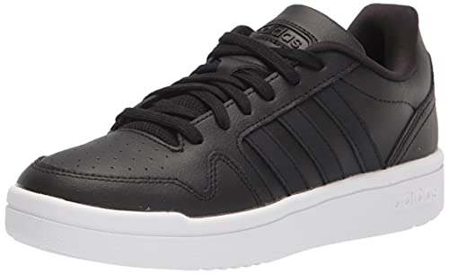 adidas Women's Post Up Basketball Shoe, Black/Black/Halo Silver, 7