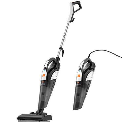 Meiyou Stick-Vacuum Powerful Handheld-Vacuum-Cleaner Lightweight - 4 in 1 18kpa Suction Vacuum with HEPA Filter for Home Hard Floor Car Pet