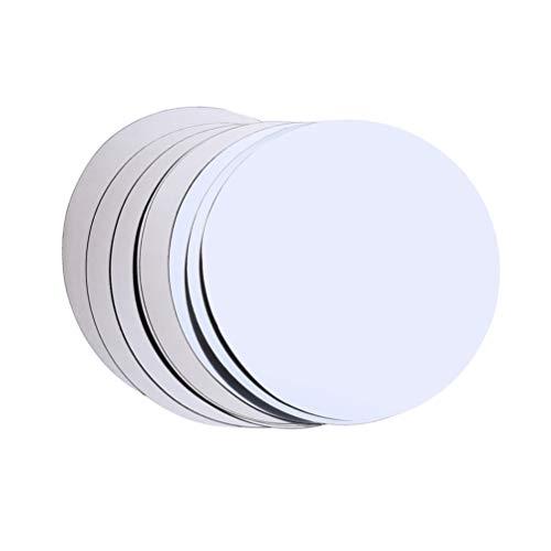 DOITOOL 15 discos de vino plateado para verteros de vino de aluminio de aluminio para evitar caídas y vertedor
