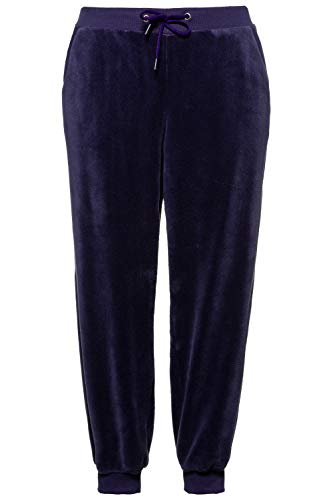 Ulla Popken Damen große Größen Homewear-Hose Nachtblau 46/48 726095 76-46+