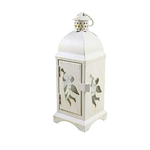 BESTONZON Lanterne décorative Vintage avec Motif d'ange Rustique pour décoration Murale à Suspendre pour intérieur ou extérieur