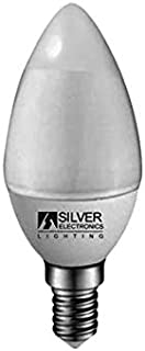Silver Electronics - Bombilla LED Natural light ECO Vela, Potencia: 5W, Casquillo: E14, Voltios: 230V, Clase energética: A+, Temperatura de color 4.000K, Luz neutra