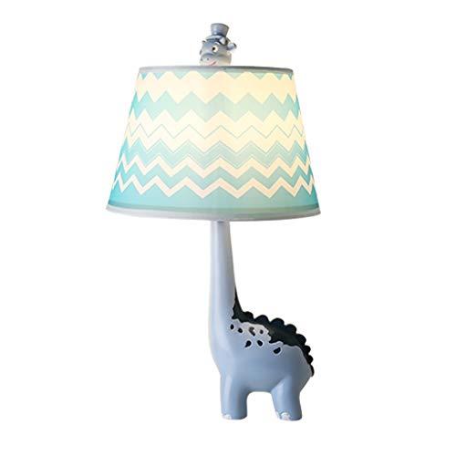 Creative Mignon Dinosaure Cartoon Lampe De Table Garçons Et Filles Pièce Décoration Lampe Creative Enfants Bureau Lecture Table Lampe Chambre Lampe De Chevet Bleu