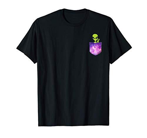 Alien In My Pocket Ufo green little man T-Shirt