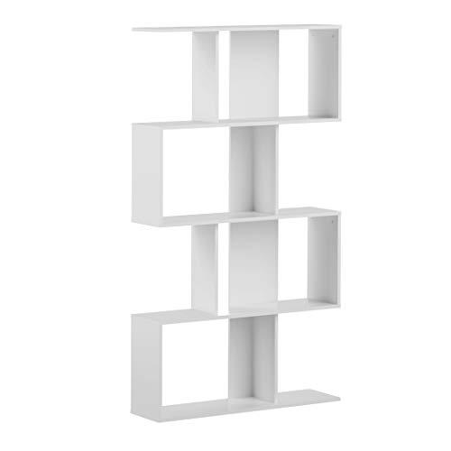 Amazon Marke -Movian Ercina - Bücherregal, 89x25x165cm (L x T x H), Weiß