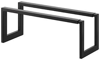 Yamazaki Home Expandable Single-Tier Low-Profile Adjustable Shoe Rack Small One Size Black