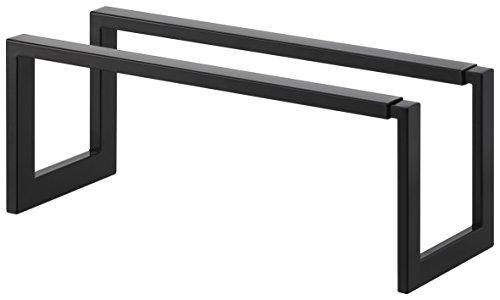 Yamazaki Home Expandable Single-Tier Low-Profile Adjustable Shoe Rack, Small, One Size, Black