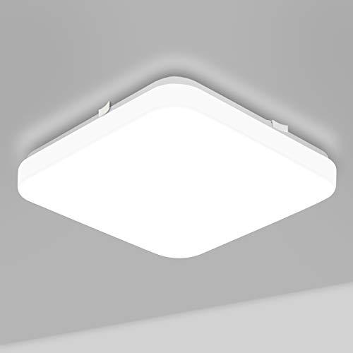 LE 22W Deckenlampe, 5000K LED Deckenleuchte, 1600LM Ø30cm Lampe Ideal für Badezimmer Balkon Flur Küche Wohnzimmer Schlafzimmer, Kaltweiß Licht Badezimmerlampe, Leuchte Badleuchte, IP20 Badlampe
