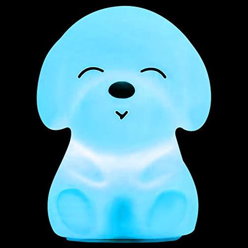 Nachtlicht für Kinder, Speyang Silikon LED Nachttischlampe, Farbwechsel Bettlampe, tragbarer USB-Wiederaufladbare Hunde-Silikonlampe Licht-tragbaren für's Kinderzimmer, Schlafzimmer, Deko Geschenk