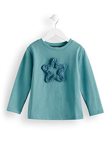 Amazon-Marke: RED WAGON Mädchen T-Shirt Star Fringe Sweat, Türkis (dark turquoise), 104, Label:4 Years