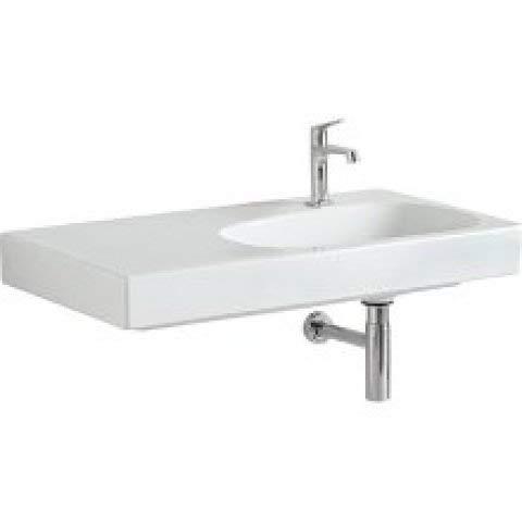 Keramag Citterio Waschtisch 500549011, Ablagefläche Links, ohne Überlauf, 900x500mm, Weiss mit KeraTect