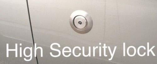 OMS Hykee Tür-Sicherheitsschloss mit Blende und Anleitung (evtl. nicht in deutscher Sprache)