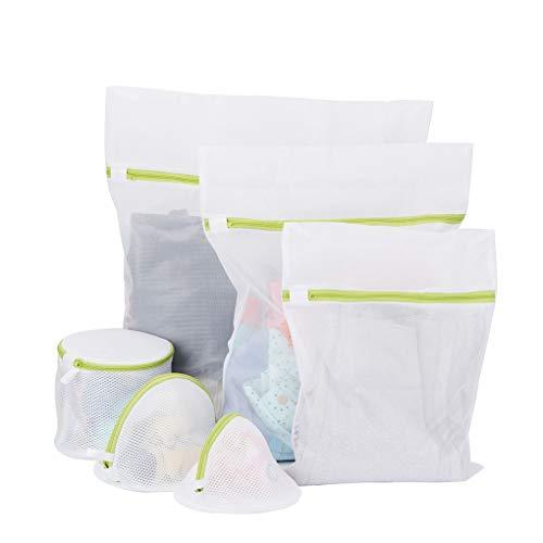 forbestest 6pcs / Set de Malla de lavandería Bolsas Stocking Interior del Sujetador de la Ropa Interior de la Protección de Lavado de Redes Reutilizable Ropa de bebé Bolsa Protectora