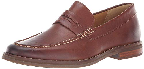 Sperry Mens Gold Exeter Penny Loafer, Tan, 8 Wide