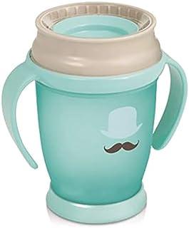 Lovi 360 Cup With Handles Junior - Light Blue Grey, 250 ml