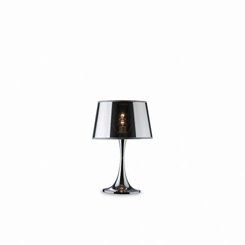 Ideal Lux LONDON TL1 BIG E27 chroom tafellamp