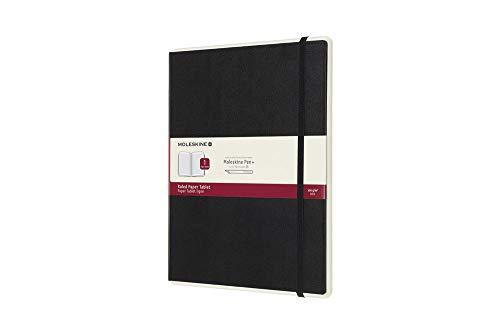 Moleskine Notebook Paper Tablet, Taccuino Digitale con Pagine a Righe e Copertina Rigida, Notebook Adatto all Uso con Pen Moleskine+, Colore Nero, Extra Large (19 x 25 cm)