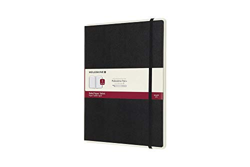 Moleskine Notebook Paper Tablet, Taccuino Digitale con Pagine a Righe e Copertina Rigida, Notebook Adatto all'Uso con Pen Moleskine+, Colore Nero, Extra Large (19 x 25 cm)