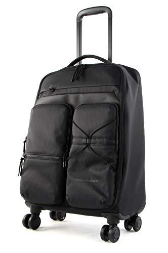 Piquadro Otello - Maleta de cabina (4 ruedas, 55 cm) Negro Talla única