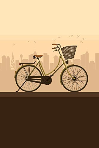 Vintage City Bike: Graph Paper Notebook, 6x9 Inch, 120 pages