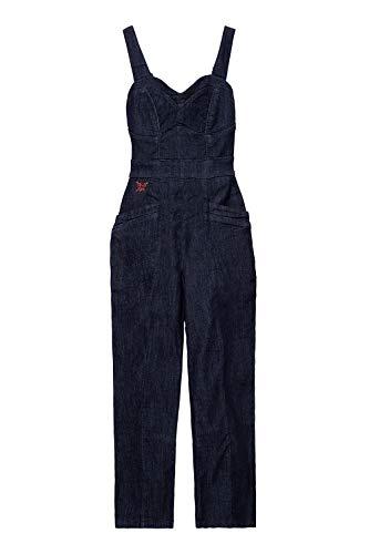 Queen Kerosin Damen Dungaree Jeans Jumpsuit Vintage Look | Latzjeans | Overall