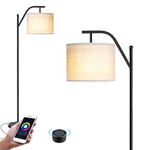 Wellwerks Lámparas de Pie WIFI, Lámpara de Salón INTELIGENTE Luz Regulable Control Remoto Compatible con Amazon Alexa y App de Movil