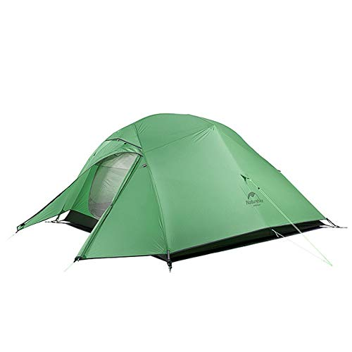 Mdsfe Naturehike Cloud Up Series 20D Nylon Ultralight Camping Tent Waterproof Wind-proof HikingTent For 3 Person NH18T030-T-210TGreen,A10