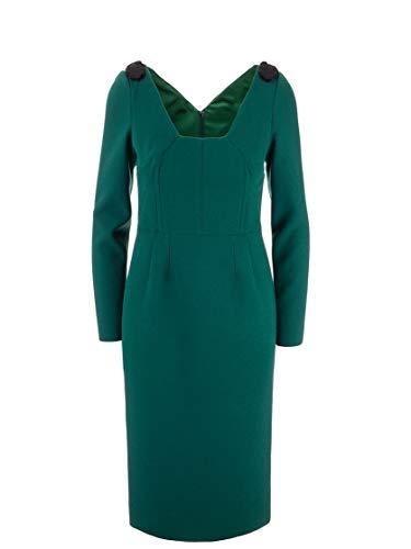 DOLCE E GABBANA Luxury Fashion Damen F6G2BZFUBCIV8745 Grün Wolle Kleid   Herbst Winter 19