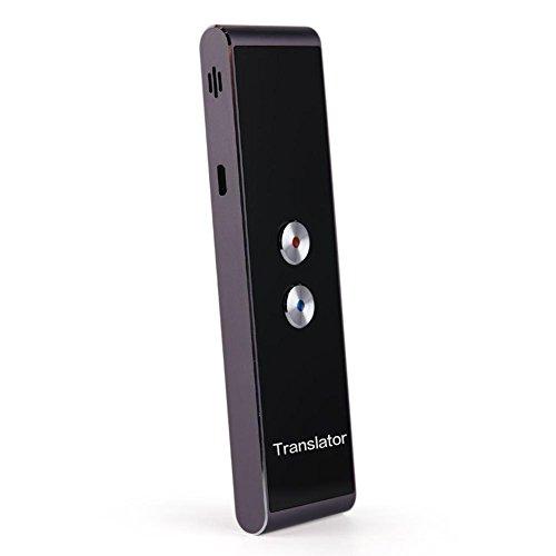 Smart Traductor Traductor de voz portátil inteligente Traductor de voz de dos vías multilingüismo en tiempo real para el Aprendizaje Del los viajeros Negocios treffens, Negro