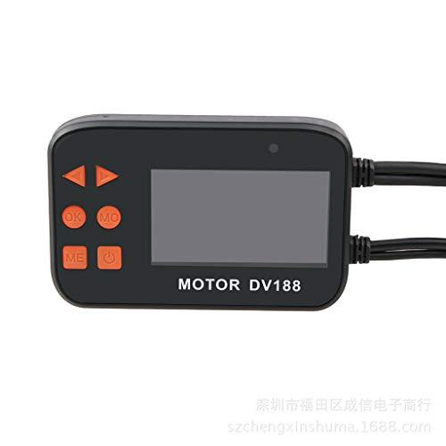 WANG XIN Enregistreur de Conduite Moto DV188 HD 1080P Basse Vision Nocturne à Double Objectif Avant et arrière